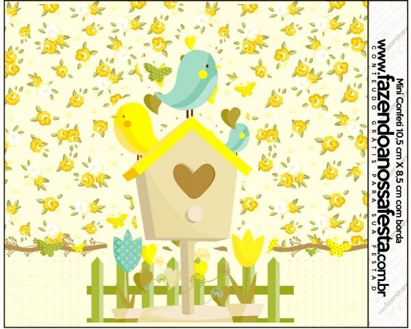 Mini Confeti Jardim Encantado Amarelo Provençal