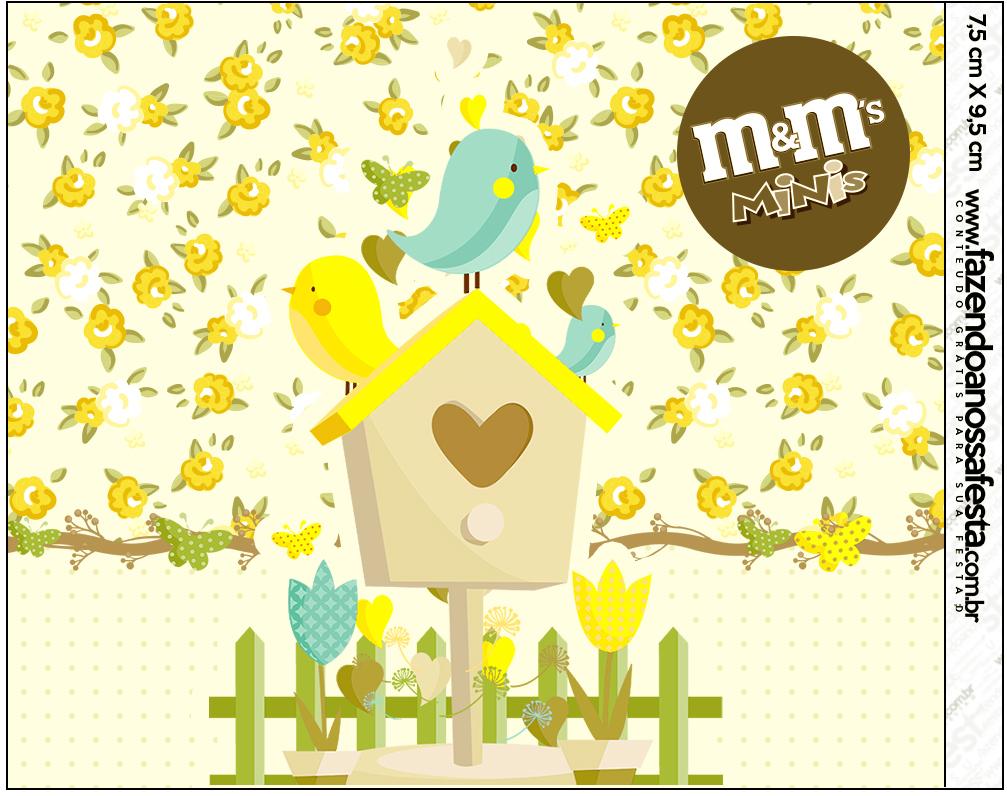 Mini M&M Jardim Encantado Amarelo Provençal  Fazendo a Nossa Festa