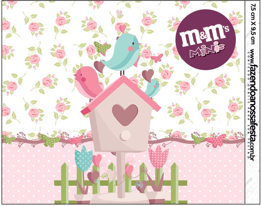 Mini M&M Jardim Encantado Provençal  Fazendo a Nossa Festa