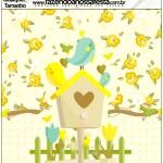 Molde Qualquer tamanho Jardim Encantado Amarelo Provençal