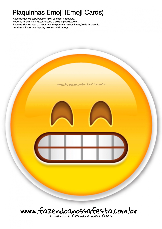 Plaquinhas Emojis 102 Emoji Card Fazendo Nossa Festa La Casa De Papel Whats