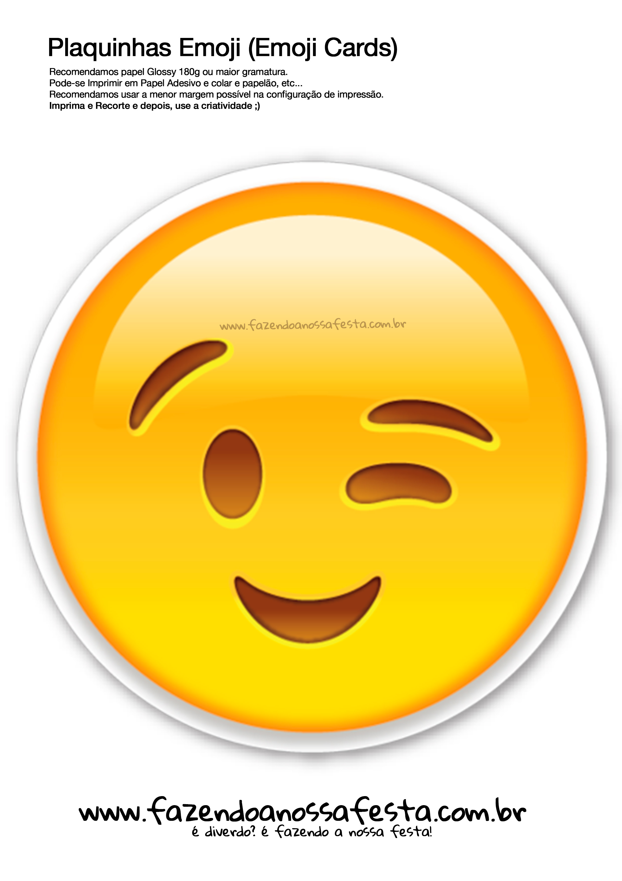 plaquinhas emojis 109 emoji card fazendo a nossa festa fazendo a