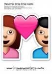 Plaquinhas Emoji Whatsapp Namorados