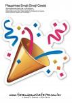 Plaquinhas Emoji Whatsapp Confete