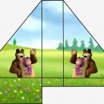 Porta Guardanapos Masha e o Urso