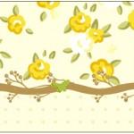Rótulo Água Jardim Encantado Amarelo Provençal