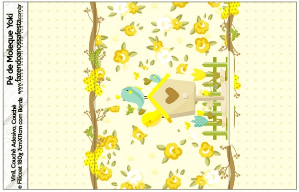 Rótulo Pé de Moleque Yoki Jardim Encantado Amarelo Provençal
