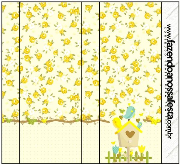 Rótulo Pirulito Mastigável Jardim Encantado Amarelo Provençal