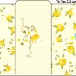 Rótulo Tic Tac Jardim Encantado Amarelo Provençal