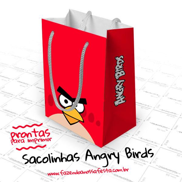 Molde Sacolinha Angry Birds