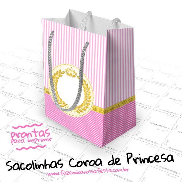 Sacolinha Surpresa Coroa De Princesa Para Imprimir