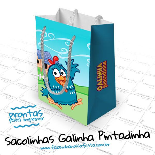 Sacolinha Galinha Pintadinha