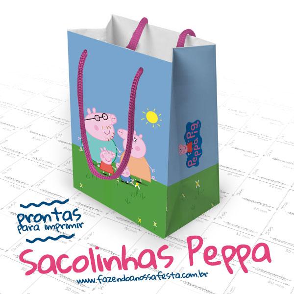 d50bf55f2 Sacolinha Surpresa Peppa Pig - Pronta para Imprimir