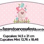 Saias Wrappers para Cupcakes 2 Jardim Encantado Provençal