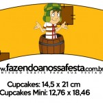 Saias Wrappers para Cupcakes Chaves