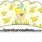 Saias Wrappers para Cupcakes Jardim Encantado Amarelo Provençal
