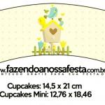 Saias Wrappers para Cupcakes Jardim Encantado Amarelo Provençal 2