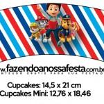 Saias Wrappers para Cupcakes Patrulha Canina