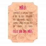 Suporte de Colar com Mensagem para Dia das Mães