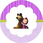 Tubetes, Latinhas e Toppers Masha e o Urso