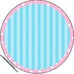 Adesivo para Tubetes Azul e Rosa