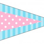 Bandeirinha Sanduiche 2 Azul e Rosa