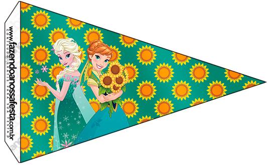 Bandeirinha Sanduiche 2 Frozen Fever Cute