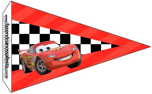 Bandeirinha Sanduiche 3 Carros Disney