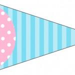 Bandeirinha Sanduiche 4 Azul e Rosa