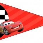 Bandeirinha Sanduiche 4 Carros Disney