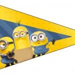 Bandeirinha Sanduiche 4 Os Minions