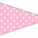 Bandeirinha Sanduiche 5 Azul e Rosa