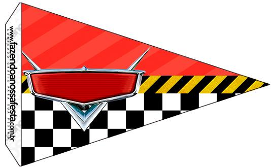 Bandeirinha Sanduiche 5 Carros Disney