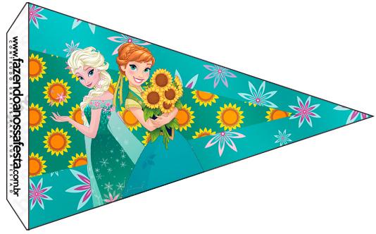 Bandeirinha Sanduiche 5 Frozen Fever Cute