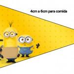 Bandeirinha Sanduiche 5 Os Minions