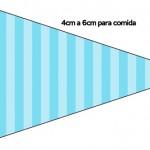 Bandeirinha Sanduiche 6 Azul e Rosa