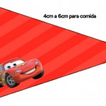 Bandeirinha Sanduiche 6 Carros Disney