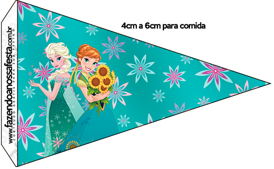 Bandeirinha Sanduiche 6 Frozen Fever Cute