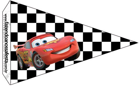 Bandeirinha Sanduiche 7 Carros Disney