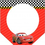 Bandeirinha Sanduiche Carros Disney