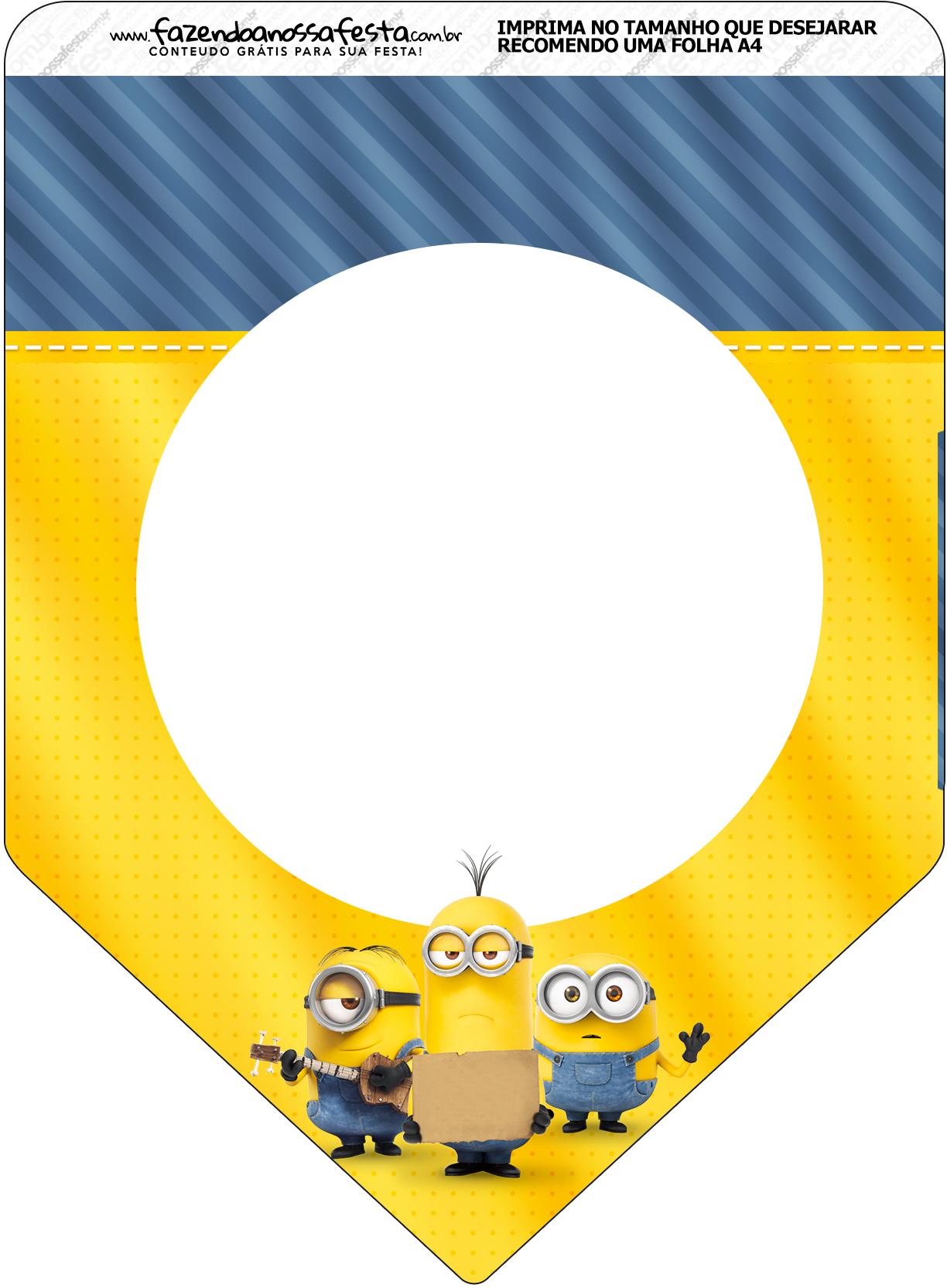 Bandeirinha Varalzinho Os Minions