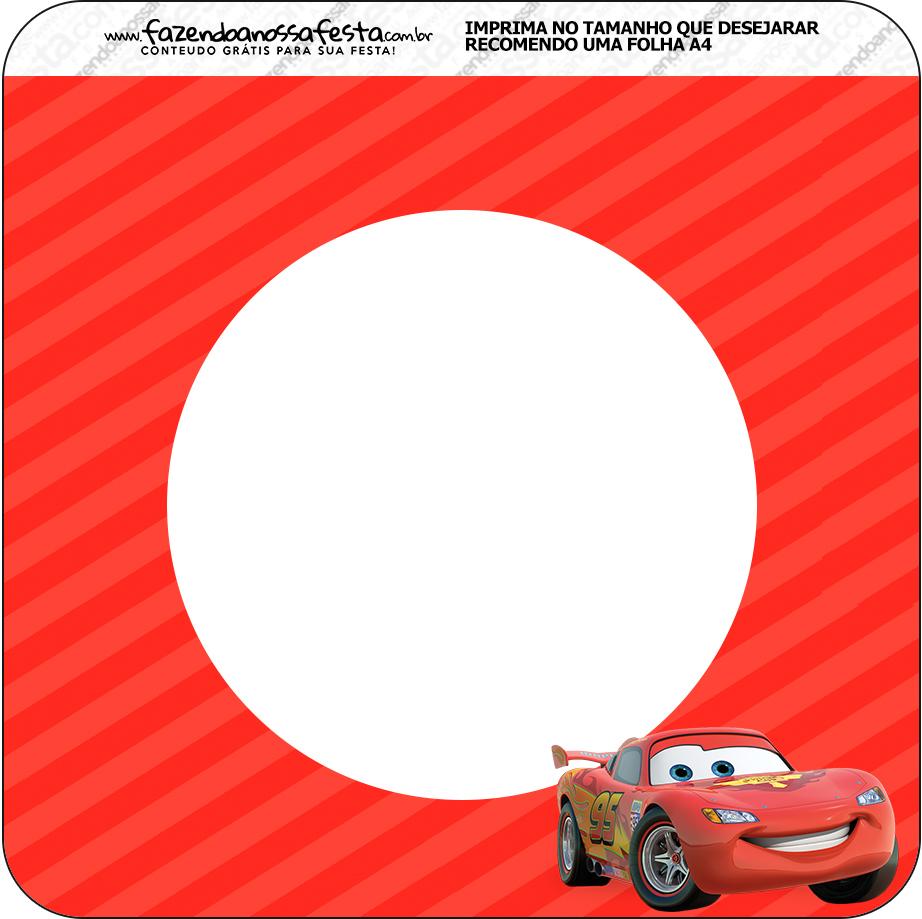 Bandeirinha Varalzinho Quadrada Carros Disney