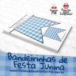 Bandeirinha de Festa Junina - Pronto para Imprimir