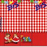 Bis Kit Festa Junina Vermelho e Branco