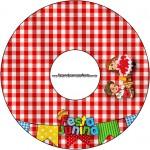 CD DVD Kit Festa Junina Vermelho e Branco