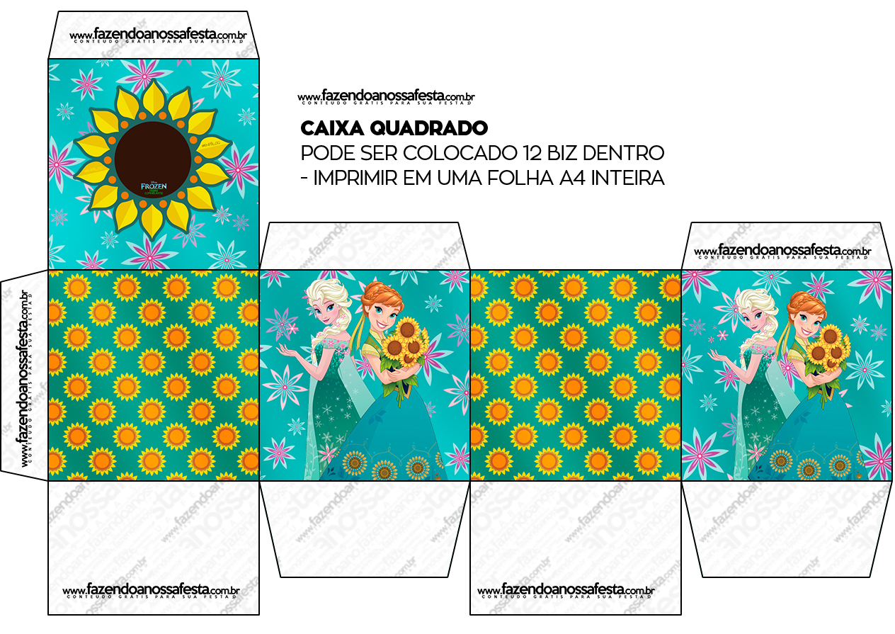 Caixa Bis Frozen Fever Cute