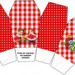Caixa China in Box Kit Festa Junina Vermelho e Branco