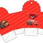 Caixa Cupcake Carros Disney