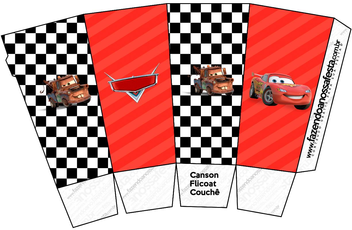 Caixa Pipoca Carros Disney