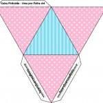 Caixa Pirâmide Azul e Rosa